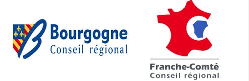 Anciens logos des régions Bourgogne et Franche-Comté