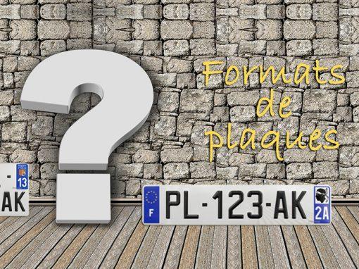 Dimensions plaque d'immatriculation