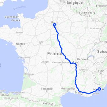 Itinéraire de la Route Nationale 7