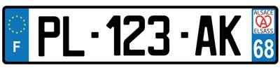 Logo Alsace pour plaque immatriculation voiture