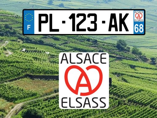Nouveau logo Alsace pour plaque d'immatriculation
