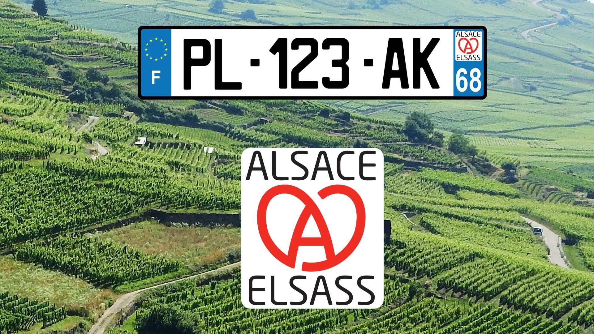 Une nouvelle plaque d'immatriculation Alsace pour 2021
